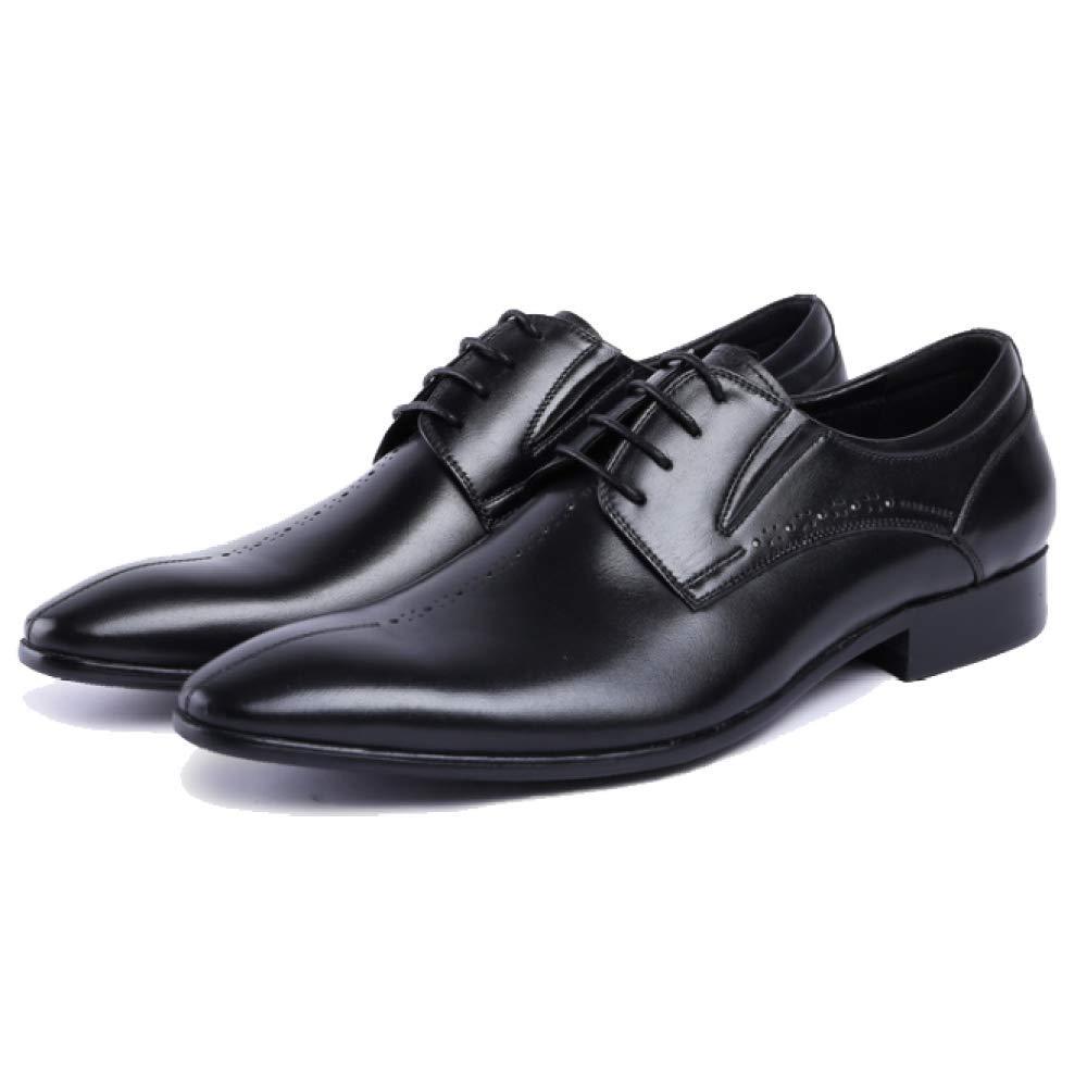 XDLJL Lederschuhe Mit Großen Stücken Von Herren Leder Zu Business Schuhe Herren Von Europäische Version Von Reinem Leder Schuhes schwarz 916e86