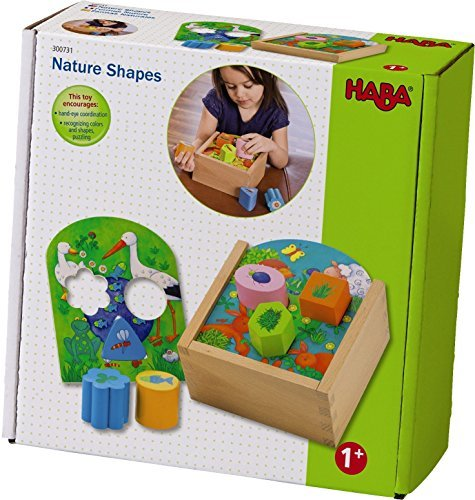 HABA Nature Shapes Wooden Shape Sorting Box [並行輸入品]   B01K1UM4IY