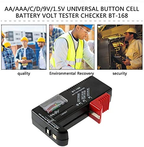 Battery tester,AA//AAA//C//D//9V//1.5V Universal Button Cell Battery Colour Coded Meter Indicate Volt Tester Checker BT-168