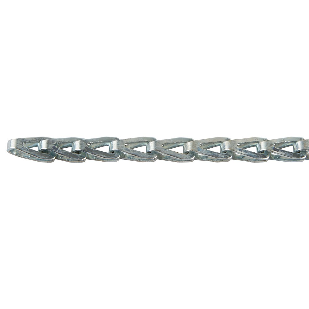 100 FT Carton Plated Steel Zinc Perfection Chain Products 55902 #8 Stamp Sash Chain