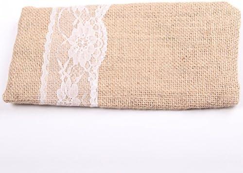 LUOEM Embragues de novia de arpillera para la decoración de ...
