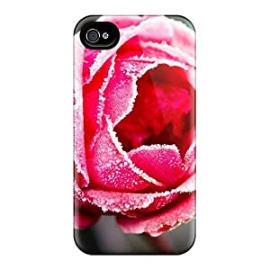 diy zhengHot Tpu Cover Case For Iphone/ 4/ Case Cover Skin - The Frozen Rose