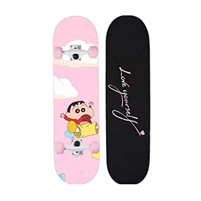 Aniseed Skateboards Cruiser Longboard Deck Skateboard Complete 31 Inch Crayon Shinchan : Sports & Outdoors