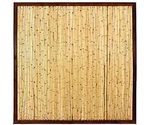 Bambú Vallas con 180x 180cm en marco de madera, Premium del