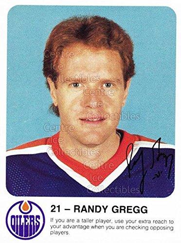 ((CI) Randy Gregg Hockey Card 1985-86 Edmonton Oilers Red Rooster 5 Randy Gregg)