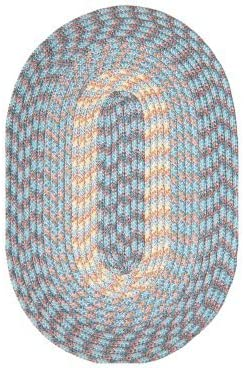 Hometown 40 x 60 Braided Rug in China Blue