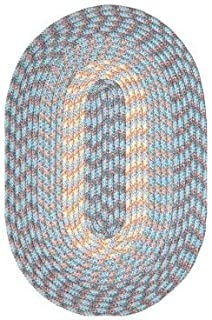 "product image for Hometown 40"" x 60"" Braided Rug in China Blue"