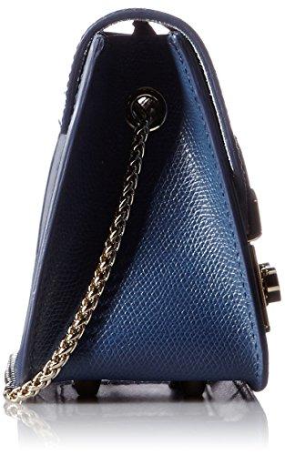 pelle cobalto tracolla Furla Metropolis Borsa in mini blu a gqP8wFY