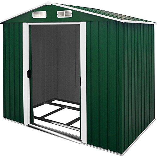 Metal tool shed apex roof galvanized steel for Cabane jardin metal