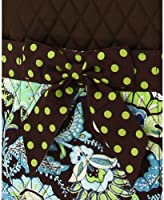 755c643d42 Amazon.com   Belvah Brown and Lime Quilted Floral 3 Pc Diaper Bag ...