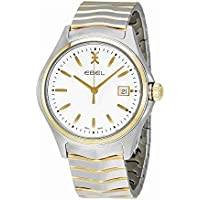 EBEL Men's 1216203 Analog Display Swiss Quartz Two Tone Watch (White)
