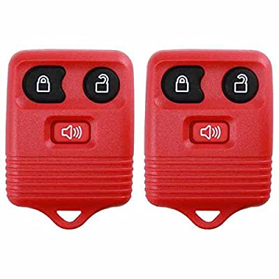 2 KeylessOption Red Replacement 3 Button Keyless Entry Remote Control Key Fob Clicker: Automotive