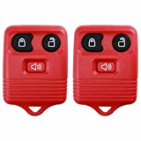 2 KeylessOption Red Replacement 3 Button Keyless Entry Remote Control Key Fob Clicker: more info