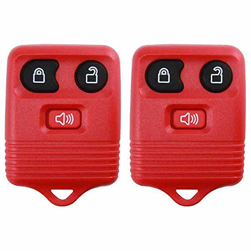 Ford Ranger Key (2 KeylessOption Red Replacement 3 Button Keyless Entry Remote Control Key Fob Clicker)