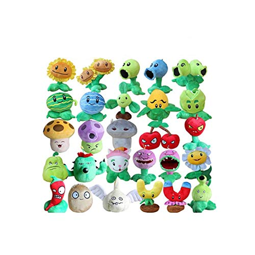 IAMQUT 13-20cm Plants Vs Zombies Soft Stuffed Plush Toys Doll Baby Toy for Kids Gifts Party Toys ()