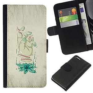 NEECELL GIFT forCITY // Billetera de cuero Caso Cubierta de protección Carcasa / Leather Wallet Case for Apple Iphone 5C // Rodajas Mano - Arte Weird