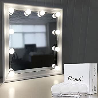 Chende hollywood style led vanity mirror lights kit with dimmable chende hollywood style led vanity mirror lights kit with dimmable light bulbs lighting fixture strip aloadofball Choice Image