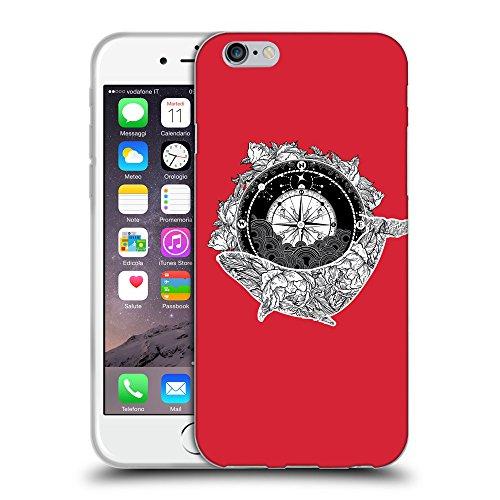 "GoGoMobile Coque de Protection TPU Silicone Case pour // Q09130601 Boussole antique 2 Alizarine // Apple iPhone 6 4.7"""