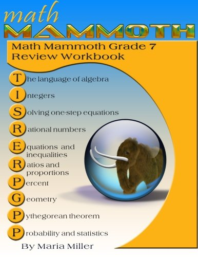 Counting Number worksheets grade 7 math probability worksheets : Math Mammoth Grade 7 Review Workbook: Maria Miller: 9781516979547 ...