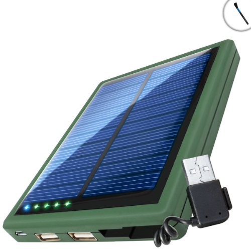 ReVIVE Backup Pocket Portable Power Bank & 5000mAh Battery Solar Charger - Works with iPhone 5S , 5C , 5 , Samsung Galaxy Core Plus , S4 , S3 , Note 3 , Note 2 , and More Cellphones *Includes Cleaning Brush*