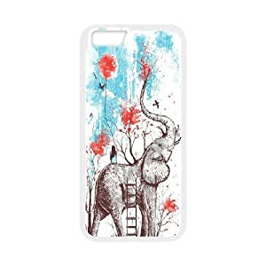 Big elephant art Pattern Hard Shell Cell Phone Case for For iphone Case 5,5S FKGZ425002