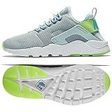 Nike Womens Wmns Air Huarache Run Ultra, FIBERGLASS/ELCTRIC GREEN-GAMMA BLUE, 8 US