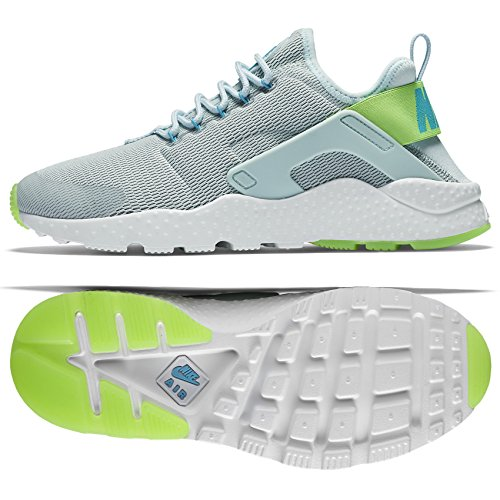 Nike Womens Wmns Air Huarache Run Ultra, FIBERGLASS/ELCTRIC GREEN-GAMMA BLUE, 8 US by NIKE