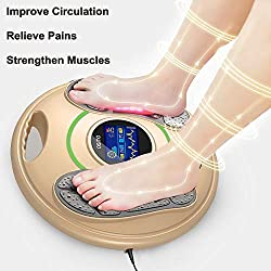 Medical Foot Massager Machine - Feet Legs Circulation Booster Using EMS and TENS Stimulator, Electrical Nerve Pulse Massage Therapy, Electric Devices for Neuropathy