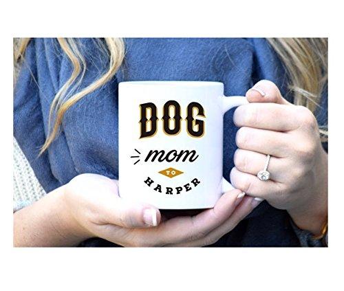 Dog Mom Mug, Dog Lover Mug, Custom Dog Mug, Dog Lover Gift, Dog Mom Gift, Dog Gift, Rose Gold Rebel, Custom Dog, Pet Parent,