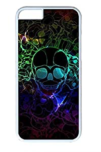 Colorful Skeleton Slim Soft Cover Case For Iphone 6 4.7Inch Cover PC White Cases