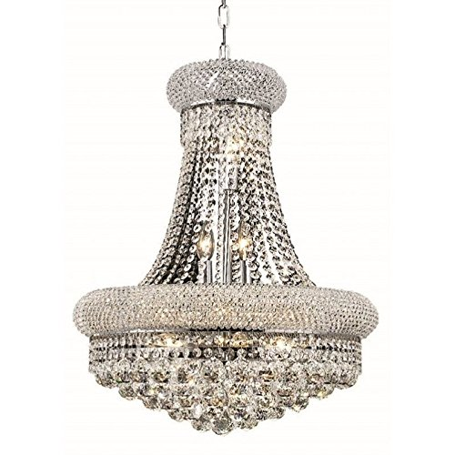 (Elegant Lighting 1800D20C/RC Primo Collection 14-Light Hanging Fixture Royal Cut Crystals with Chrome Finish)
