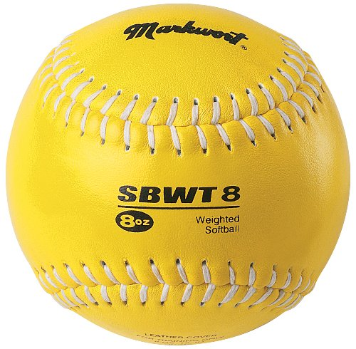 Markwort Weighted 12-Inch Softball-Leather Cover, Yellow