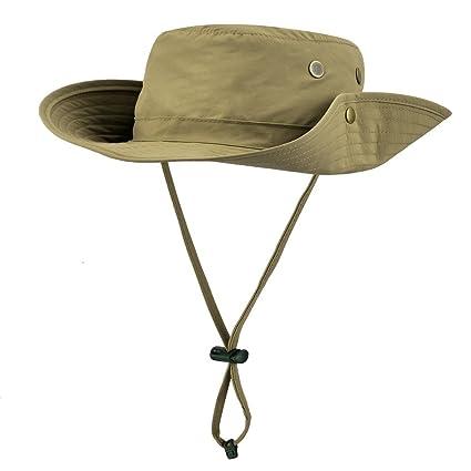 6906db61c2a Uarter Mesh Bucket Hat Boonie Cap Summer Waterproof Wide Brim Fishing Hat  Sun Protection Fisherman Hat