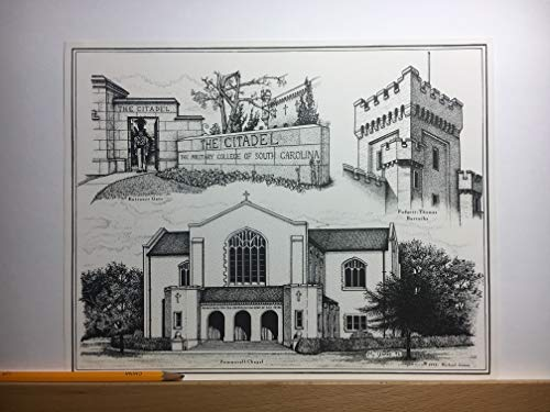 Citadel - hand-drawn pen and ink print by Campus Scenes