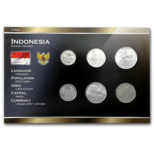 ID 1994 -2010 Indonesia 25-1000 Rupiah Coin Set BU - Store Indonesia Online