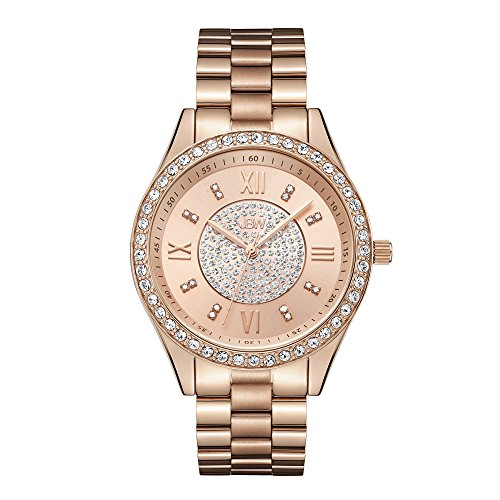 JBW Women's J6303C Mondrian Analog Display Japanese Quartz Rose Gold Watch with Pave Diamond Face