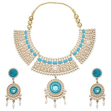 Princess Pocahontas Jewelry Costume Accessories: Necklace, Earrings (Disney Pearl Earrings)