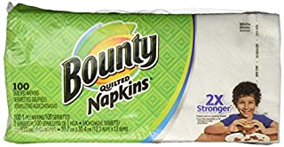 Bounty Quilted Napkins, 1-Ply, 12.1In X 12In, 100/PK, White (B0010ITF66) | Amazon price tracker / tracking, Amazon price history charts, Amazon price watches, Amazon price drop alerts