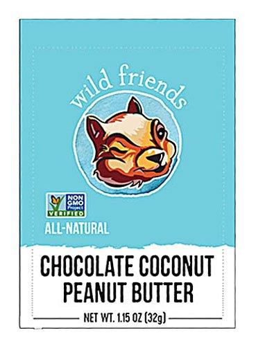 Wild Friends Peanut Butter Squeeze Pack Chocolate Coconut -- 1.15 oz - 2 pc
