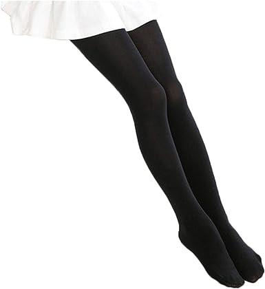 Children/'s Black Opaque Tights Girls Kids Stockings Nylon Stocking Costume Dance