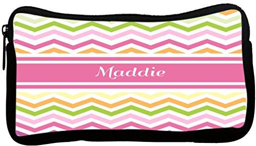 Rikki Knight Maddie Pink Chevron Name Neoprene Pencil Cas...