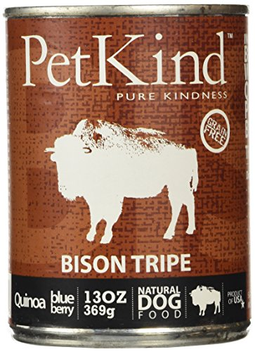 PETKIND 328009 That's It Bison Tripe Supplement for Pets, 13-Ounce , pack of 12