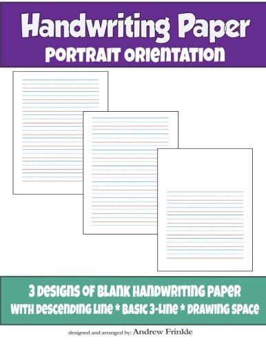 Handwriting Paper: Portrait Orientation (Volume 2) ebook