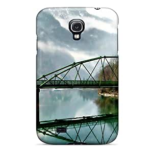Hot MNCrGtq8523WcFlV Case Cover Protector For Galaxy S4- Canyon River Bridge