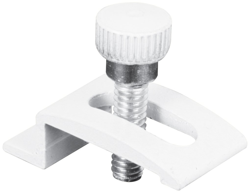 Slide-Co 183010 Storm Door Panel Clips, 1/4-Inch with Thumbscrews, White,(Pack of 8)