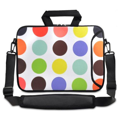 "tolulu & # 174; Fashion Spots Laptop Netbook Tablet da 9.7""10"" 10.2Borsa da spalla borsa da trasporto per Apple iPad/Asus EeePC/Acer Aspire One/Dell Inspiron Mini/Samsung N145/Lenovo S205S10/HP Tou"