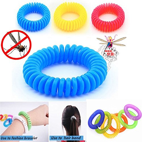 UNAKIM--10 PCS Anti Mosquito Insect Repellent Wrist Hair Band Bracelet Camping Outdoor