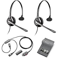 Plantronics HW251N Headset Training Bundle | Headsets, M22 Digital Headser Adapter, Y-Training Splitter Cord (with Mute button) | Use for Coaching, Supervising, Training, Monitoring