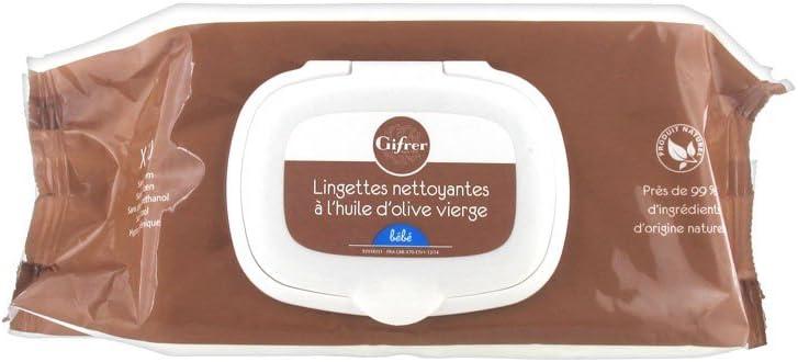 GIFRER Lingettes nettoyantes /à lhuile dolive Paquet de 70