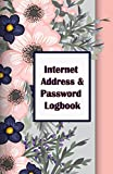 Internet Address & Password Logbook: Flower on